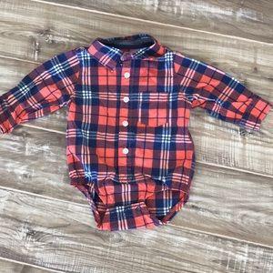 OshKosh Baby Boy Flannel Bodysuit
